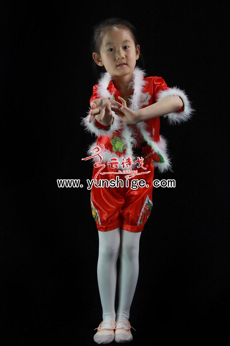 儿童汉族古典舞服装60928迎新年