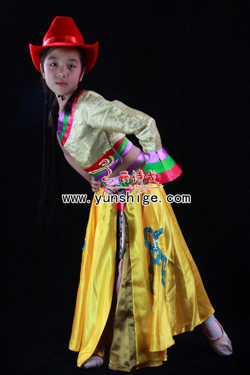 儿童56个少数民族服装儿童藏族60012康定溜溜