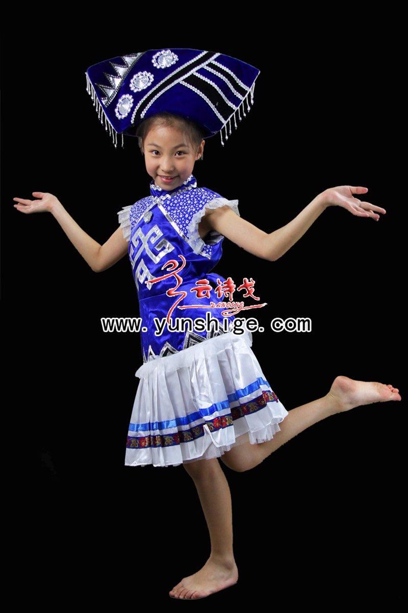 儿童56个少数民族服装儿童壮族60651小壮族