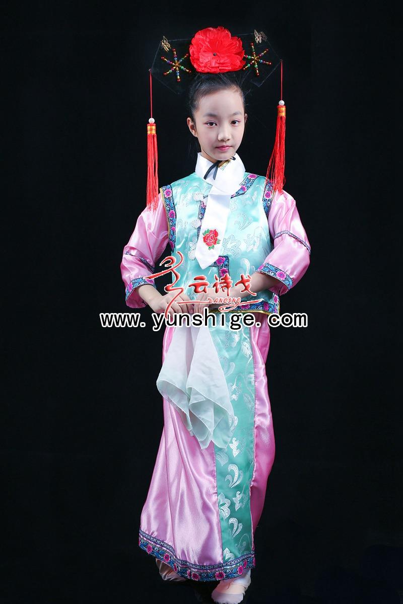 儿童中式满族服装qcgt02