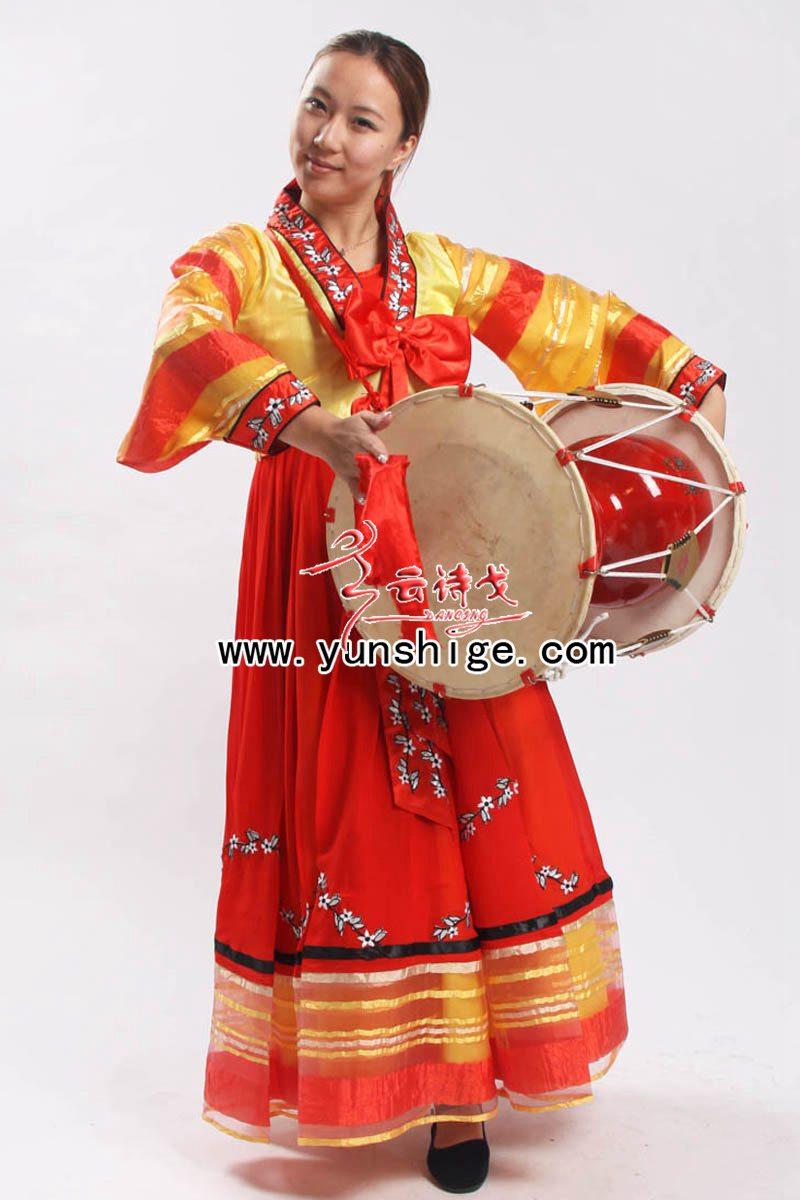 56个少数民族服装 朝鲜族 韩服 演出服cxg14