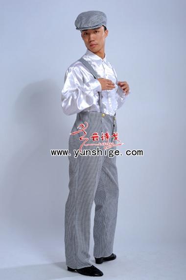 老上海服装民国服装背带裤djb03